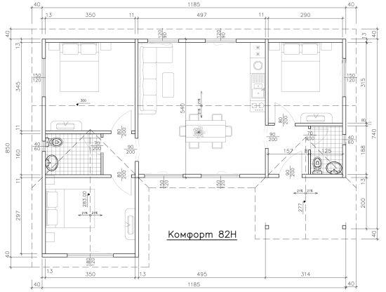 Схема на Комфорт 82H